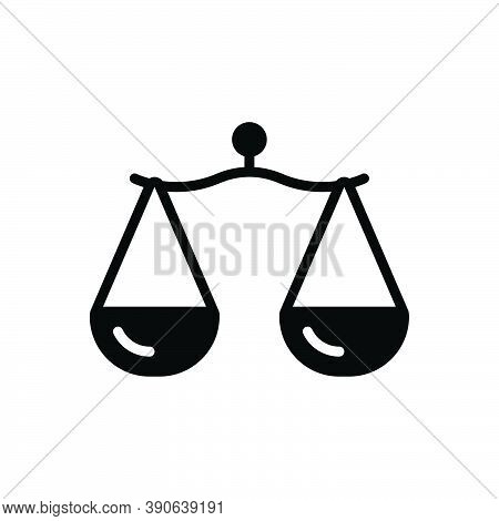 Black Solid Icon For Proportion Comparison Libra Rate Scale Measure Ratio Equality Equilibrium Balan