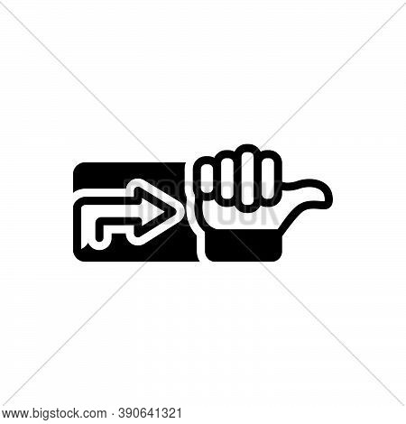 Black Solid Icon For Indication Sign Hint Clue Gesture Intimation Arrow Thumb