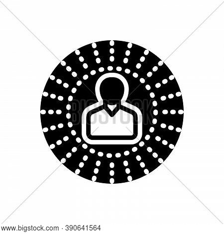Black Solid Icon For Perception Recognition Picture Observation Viewpoint