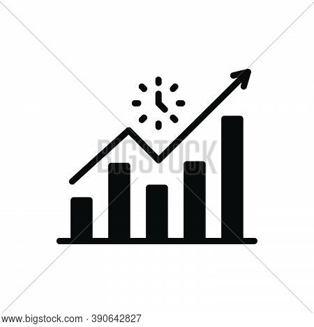 Black Solid Icon For Advance Leading  Promoted Success Career Achievement Development Progress Growt