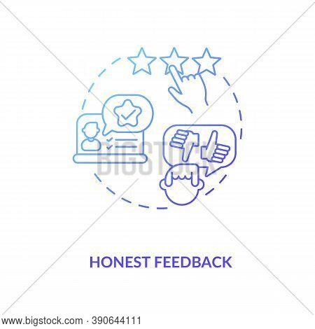 Honest Feedback Concept Icon. Influencer Marketing Benefit Idea Thin Line Illustration. Customer Tes