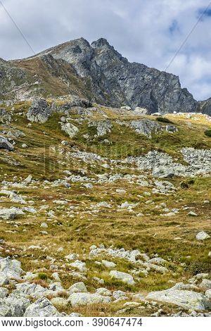 Mengusovska Valley And Koprovsky Peak, High Tatras Mountains, Slovak Republic. Hiking Theme. Seasona