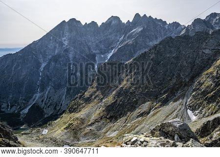 High Tatras Mountains Scenery, Slovakia Republic. Seasonal Natural Scene. Travel Destination.