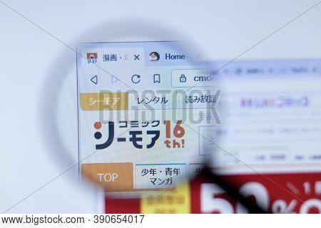 New York, Usa - 29 September 2020: Cmoa.jp Cmoa Company Website With Logo Close Up, Illustrative Edi