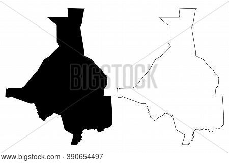 Upper Nile State (states Of South Sudan, Greater Upper Nile Region) Map Vector Illustration, Scribbl