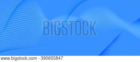 Blue Gradient Background. Abstract Flow Shape Brochure. Vivid Technology Landing Page. Light Geometr