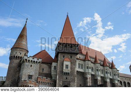 Old Medival Castle (corvin's Castle In Hunedoara, Romania)