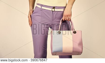 Versatile Handbag Colors. Sexy And Confident Blond Carry Shoulder Bag. Handbag Fashion And Beauty. T