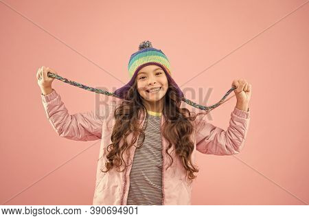 Clothes Shop. Kids Hats For Winter Season. Accessory Protect Head. Trendy Stylish Accessory. Adorabl