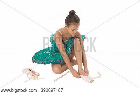 Ballet Class. School Club. Sport And Health Care. Small Ballerina. Talented Ballet Dancer. Kid Dress