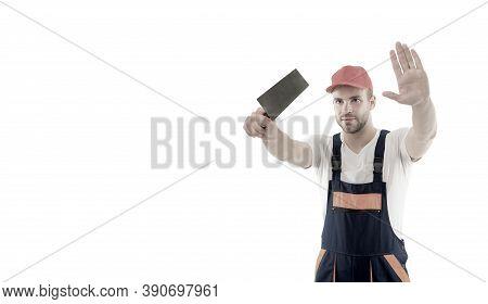 Focused On Result. Repair Service. Repair And Renovation Concept. Handyman Home Repair. Repairing An