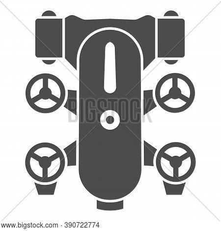 Underwater Robot Solid Icon, Robotization Concept, Underwater Vehicle Sign On White Background, Auto
