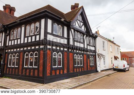 Southampton, United Kingdom - April 24, 2019: Cement Terrace Street View With Traditional Old Houses