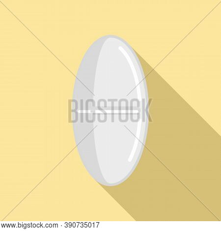 Refill Pill Icon. Flat Illustration Of Refill Pill Vector Icon For Web Design