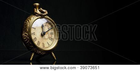 Antique Desk Clock - Off Center