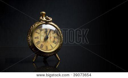Antique Desk Clock - Face On