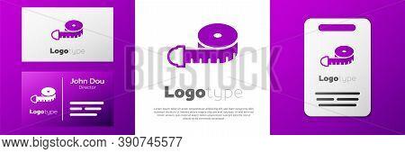 Logotype Tape Measure Icon Isolated On White Background. Measuring Tape. Logo Design Template Elemen