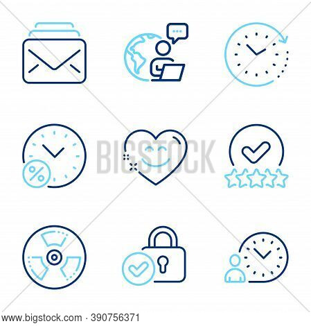 Technology Icons Set. Included Icon As Time Change, Time Management, Mail Signs. Chemical Hazard, Sm