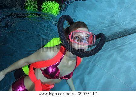 Female scuba diver