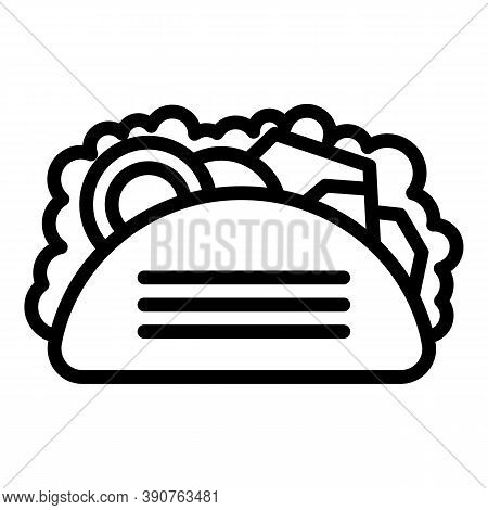 Taco Food Icon. Outline Taco Food Vector Icon For Web Design Isolated On White Background