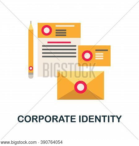 Corporate Identity Icon. Simple Element From Business Motivation Collection. Creative Corporate Iden