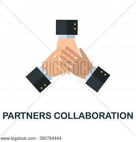 Partners Collaboration Icon. Simple Element From Business Motivation Collection. Creative Partners C