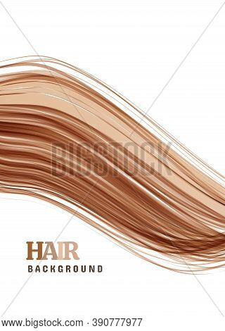 Hair Vector Background On White Background. Close-up