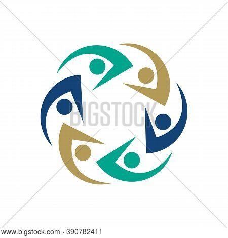 Illustration Design Symbol Icons Of People Together. Vector Illustration Eps.8 Eps.10