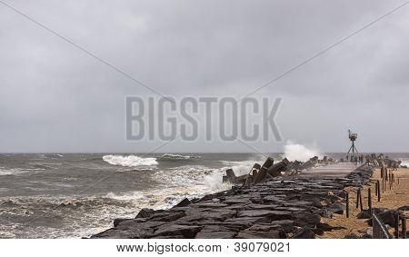 Hurricane Sandy Approaches New Jersey Shore