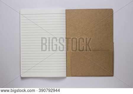 A Single Line Book On White Background Stock Photo