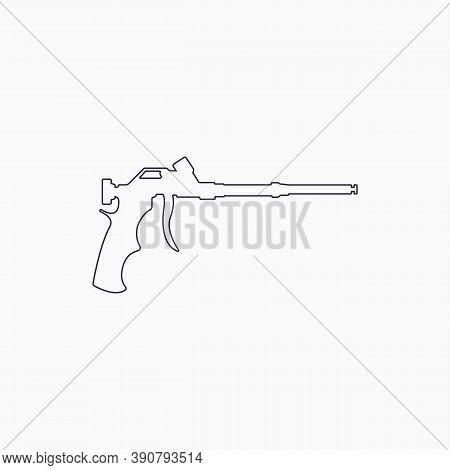 Foam Gun Line Icon. Construction Tool Line Icon. Gun For Household Balloon. Outline Icon.