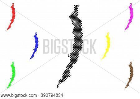 Antofagasta City (republic Of Chile, Antofagasta Region) Map Vector Illustration, Scribble Sketch Ci