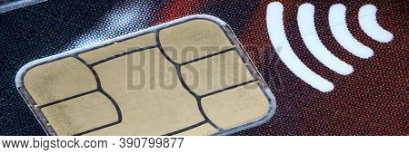 Close-up Of Glossy Credit Card. Technical Standard For Smart Payment Cards. Way Of Wire Transfer For