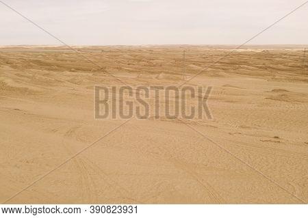 Dryness Land With Erosion Terrain, Geomorphology Background.