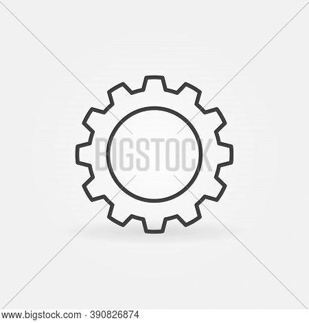 Gear Or Cog Wheel Vector Thin Line Concept Icon Or Design Element
