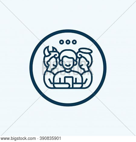 Morality Icon. Flat Creative Element From Business Ethics Icons Collection. Colored Morality Icon Fo