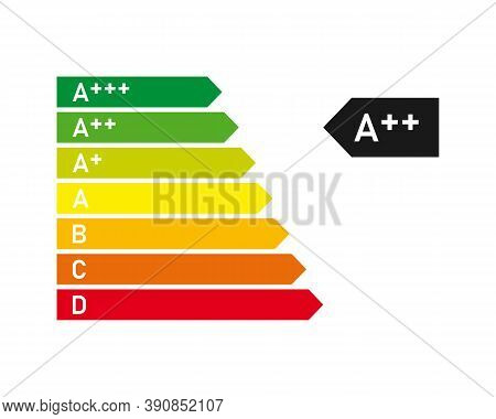 Energy Rating Graph With Arrows. Energy Efficiency Level. Vector Eps10