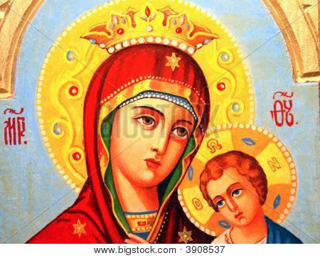 Icon Of  Mother Divine