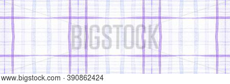 White Flannel Checks. Watercolour Stripes Material. Hipster Gingham Tablecloth. Seamless Flannel Che