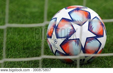 Kyiv, Ukraine - September 29, 2020: Official Uefa Champions League 2020/21 Season Match Ball In The