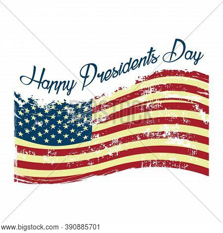 Happy Presidents Day In United States. Washington's Birthday. Federal Holiday In America. Celebrated