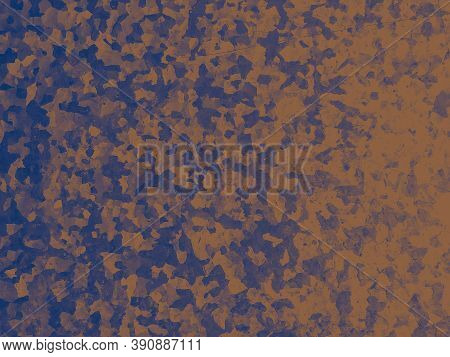 Watercolor Fashion Camouflage. Blue Combat Fabric. Camo Material. Grunge Desert Design. Fashion Camo