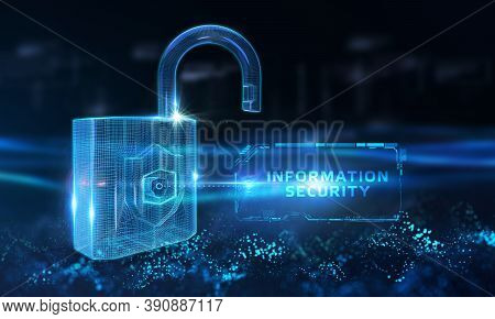 Cyber Security Data Protection Business Technology Privacy Concept. Information Security 3d Illustra