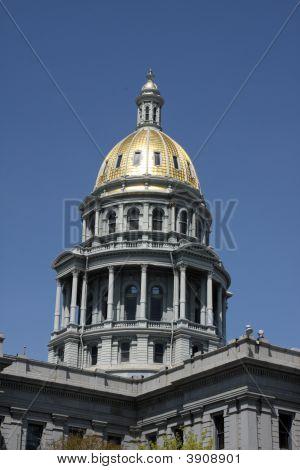 Colorado Capitol Dome In Denver