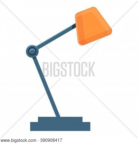 Cozy Home Desktop Lamp Icon. Cartoon Of Cozy Home Desktop Lamp Vector Icon For Web Design Isolated O