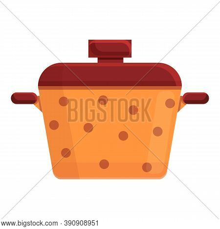 Cozy Home Saucepan Icon. Cartoon Of Cozy Home Saucepan Vector Icon For Web Design Isolated On White