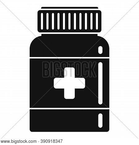Dose Capsule Jar Icon. Simple Illustration Of Dose Capsule Jar Vector Icon For Web Design Isolated O