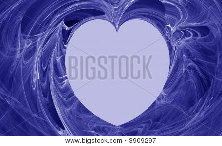 Blue Abstract Heart