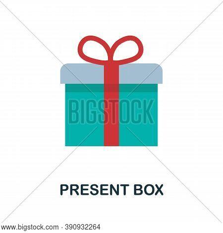 Present Box Icon. Simple Element From Celebration Collection. Creative Present Box Icon For Web Desi