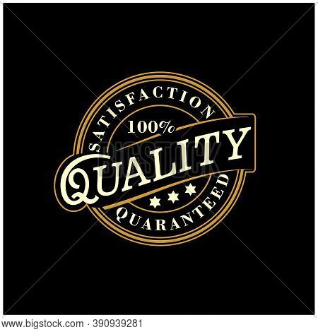 100% Satisfaction Guaranteed  Quality Product Stamp Logo Design